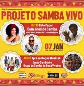 Acompanhe a programação do Projeto Cultural Samba Vivo