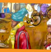 Estúdio África cria fundos decorativos com contextos africanos em feira livre