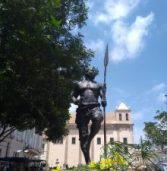 Estátua de Zumbi fica sem lança após ato de vandalismo