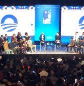 Paulo Rogério Nunes palestra em evento da Fundação Obama, na Califórnia