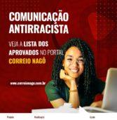 Lista de selecionados para o Curso Comunicação Antirracista