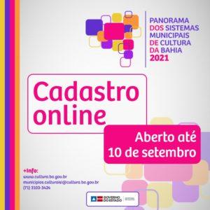 SecultBA lança cadastro online do Panorama dos Sistemas Municipais de Cultura
