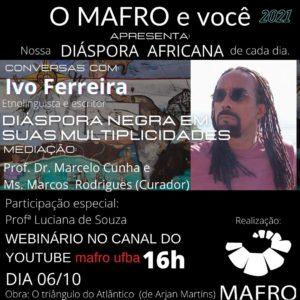 O Museu Afro-Brasileiro promove para pensar na diáspora nesta quarta-feira (06)